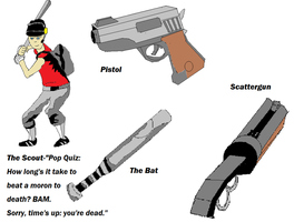The Scout-Scout and Weapons by Aetherartist