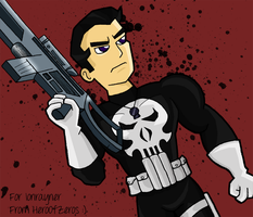 Art Trade - Punisher by HeroOfZeros