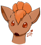Practice Headshot of Vulpix by Zilarine