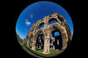 Fisheyed Whitby Abbey IV by karla-chan