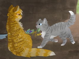 Mothwing and Willowpaw by CascadingSerenity