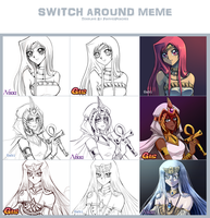 YGO Switch Around Meme of Awesomeness by Yamineftis