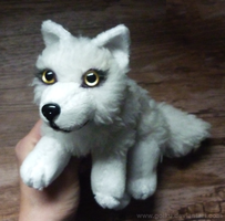 FOR SALE: White wolf - small floppy by goiku