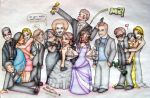 Glee cast their awards and me by Lillymonkey