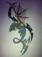 steam punk dragon coloured and finished by gbftattoos