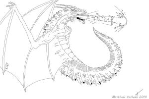 Dragon Lineart by MaTth1as