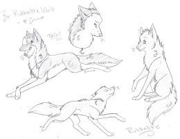 RubbaliteWolf sketches by thelunacy-fringe