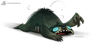 Daily Painting 890. Sloth Zombie by Cryptid-Creations