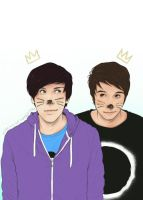 Phil and Dan - philisnotonfire by Kumagorochan