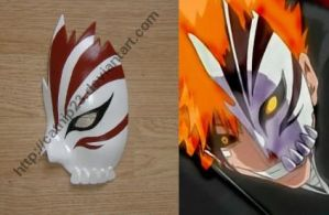 Ichigo Hollow Half Mask by catnip23