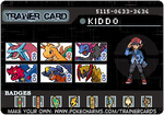 Kiddo's trainer card by Officer-Luke