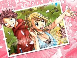 Lucy and natsu in manga version by janesmee