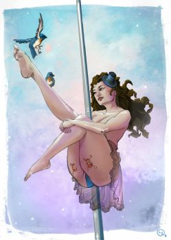 POLE DANCE ART - Take Flight - Pole Dance - 1 by leenisabel