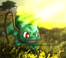Bulbasaur Solarbeam by samuelnff