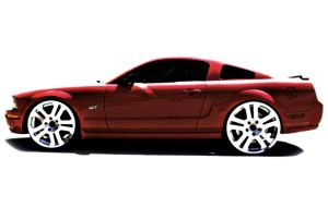Sexy Red Mustang by Mrpants93