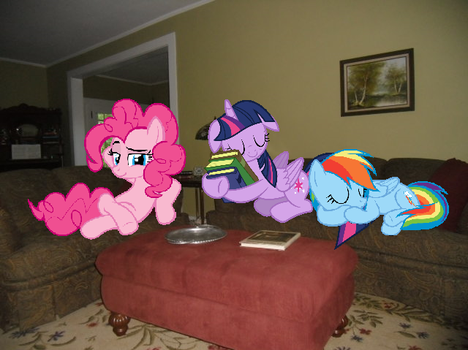 Three Ponies On My Couches by Eli-J-Brony