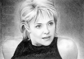 Amanda Tapping miniature by whu-wei