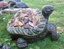 Rock Turtle Sculpture by Pabloramosart