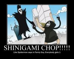 SHINIGAMI CHOP motiv. poster by Zion500