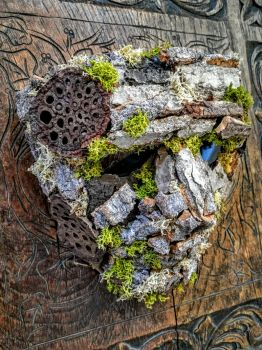 tree man wooden mask 2016 by richardsymonsart