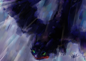 Speedpaint: Toothless by neir-2-you