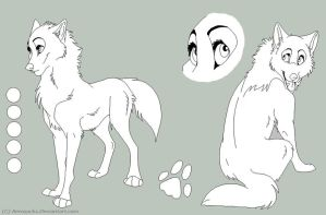 Free Female Wolf Ref Sheet by AeroSocks