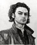 Pencil Drawing: Aidan Turner as Mitchell by SHParsons