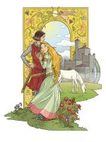 medieval lesbians in love by emstone