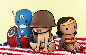 TF2: Baby Soldier and plushies by BIazeRod