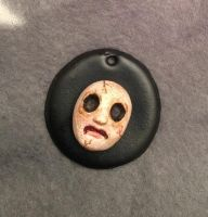 Polymer clay tiny.. face by lollollol2
