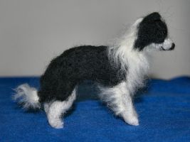 Needle Felted Border Collie by celestriastars