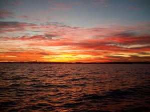 Auckland Sunset for Diana by Applemac12