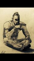Drawing of Vaas with filter by DazBoSchitt7