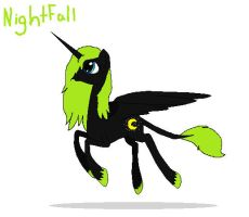 Alicorn OC, NightFall by HollyofStars