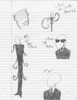 Slender Man Sketch Dump by angia101