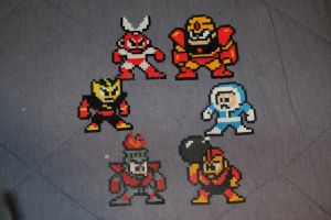 Megaman Robot Masters Perler by evilpika