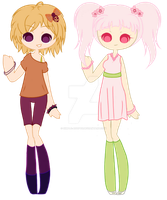 .:Sunset Punk + Cherry Blossom Cutie:. 50 points by Simple-Adopts