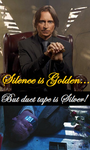 ''Silence is golden...'' by Omorocca
