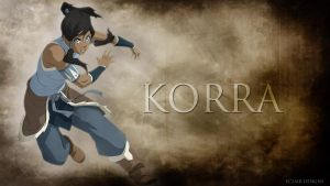 Korra Desktop Wallpaper by EclairDesigns