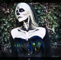 Fantasy Skull Make up by Psunna