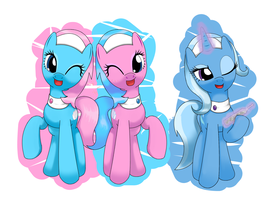spa ponies ans part time trixie by hoyeechun
