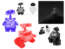 Wall-E Brushes by alamic-marius
