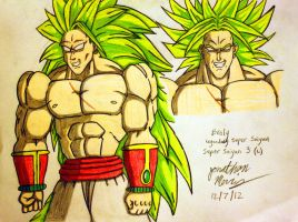Broly - Legendary Super Saiyan and Super Saiyan 3 by JAM4077