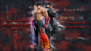 Jin Kazama Wallpaper by CakeSlayer
