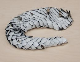Dragon Tail in White Painted Aluminum by DracoLoricatus