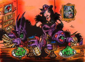 Legends of The Boo-Monster-Dinner Time by ragzdandelion