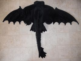 Toothless Body stuffed and Winged by Super3dcow