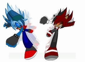 Vicious Vs Joey (w/ crappy afterimage effects) by TrueBladEdge