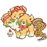 Smol Chicken ChowMien by LuckyKitzy