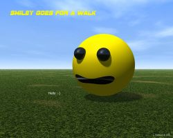 Smiley goes for a walk by s-ense